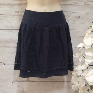 Lucky Brand Embroidered Lace Eyelet Skirt